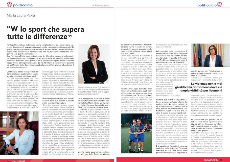 Laura Paxia intervistata da Politicalcio - Sport e Politica